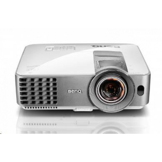 BENQ PRJ MW632ST DLP; WXGA; 3200 ANSI ,13000:1,1.2X, D-sub,HDMI,USB,S-Video vstup,Reproduktor 10W x 1