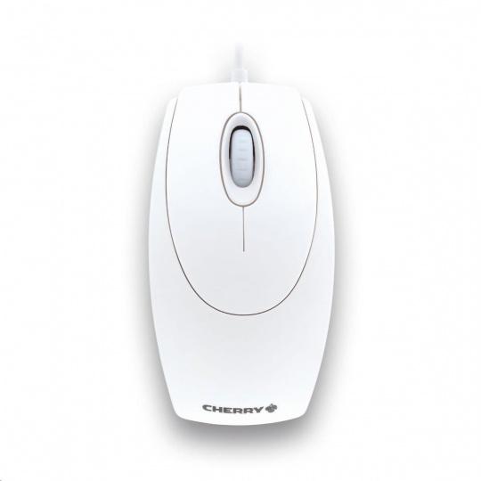 CHERRY myš Wheel, USB, adaptér na PS/2, drátová, bílá
