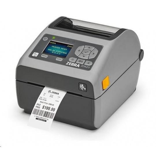 Zebra DT tiskárna etiket ZD620 Locking, LCD, 300 dpi, USB, USB Host, Serial, LAN, 802.11, BT ROW