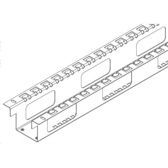 TRITON výztužná sada pro rozvaděče RTA 45U/800x1200, stabilizuje rozvaděč, umožňuje vertikální vyvázání kabeláže