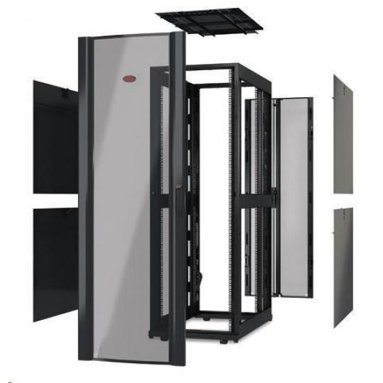 APC NetShelter SX 42U 600mm Wide x 1200mm Deep Enclosure Without Doors, Black