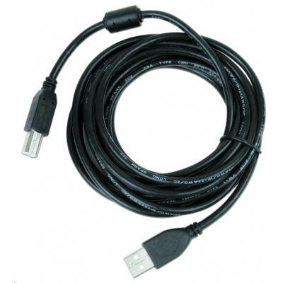 GEMBIRD Kabel USB 2.0 A-B propojovací 4,5m Premium (černý, ferit, zlacené kontakty)