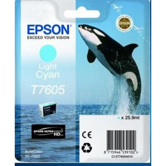 "EPSON ink bar ULTRACHROME HD ""Kosatka"" - Light Cyan - T7605 (25,9 ml)"