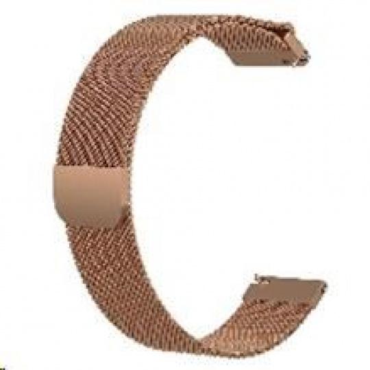 eses milánský tah růžově zlatý pro samsung galaxy watch 42mm/gear sport/galaxy watch active/garmin vivoactive 3