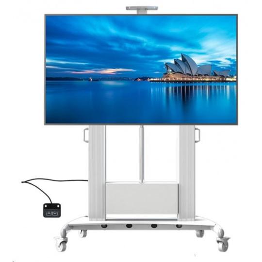 """Profesionální televizní stojan s motorizovaným posunem výšky obrazovky, na Tv 55-100"""", Fiber Mounts TW100"""