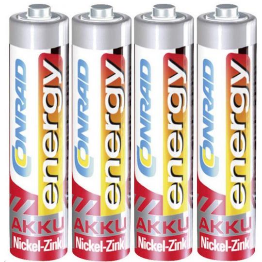 CONRAD energy, NiZn , AAA, 550 mAh, 1,6 V, 4 ks