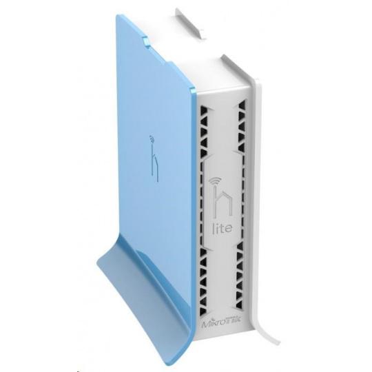 MikroTik hAP Lite (tower), 650MHz CPU, 32MB RAM, 4x LAN, integr. 2.4GHz Wi-Fi, WPS, vč. L4