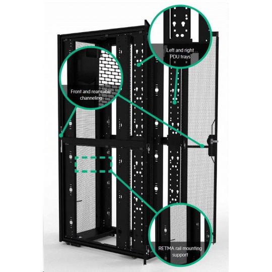 HPE 42U 600mmx1075mm G2 Enterprise Pallet Rack (side panel P9L15A not included)