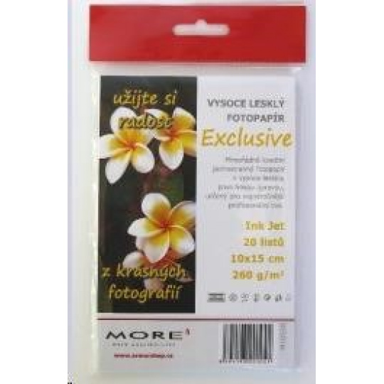 Fotopapier MORE pre ink-jet Harmony 240g/m2, glossy, jednostranný lesklý, 10x15 cm, 20 listov