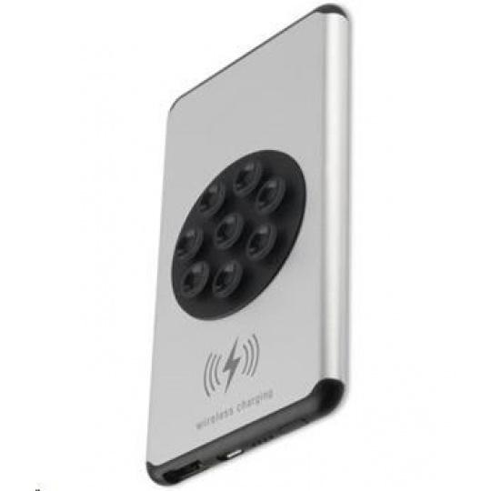 4smarts bezdrátová nabíječka StickyVolt, 5000 mAh, černá