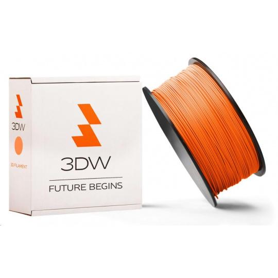 3DW - PLA  filament pre 3D tlačiarne, priemer struny 1,75mm, farba oranžová, váha 0,5kg, teplota tisku 190-210°C