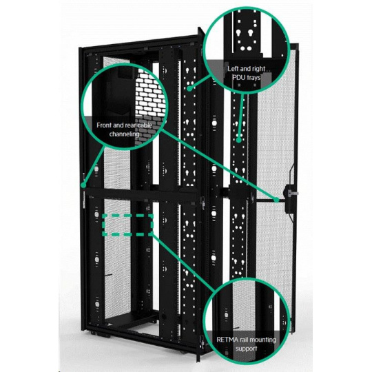 HPE 42U 800mmx1075mm G2 Enterprise Shock Rack