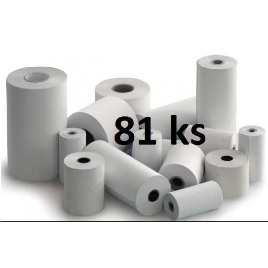Papírový kotouč papírová páska TERMO, 80/60/12 (43m) - 80ks