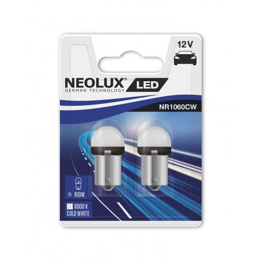 """NEOLUX autožárovka """"R10W"""" RETROFIT 12V 1,2W BA15s 6000K studená bílá (Blistr 2ks)"""